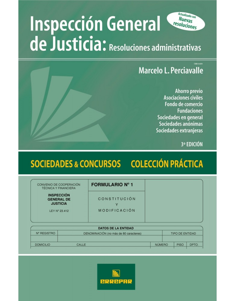 INSPECCION GENERAL DE JUSTICIA 3ºED.