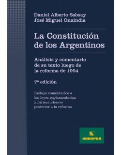 CONSTITUCION DE LOS ARGENTINOS.7ªEDICION