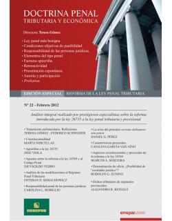 Doctrina Penal Tributaria y Economica - Edicion Especial