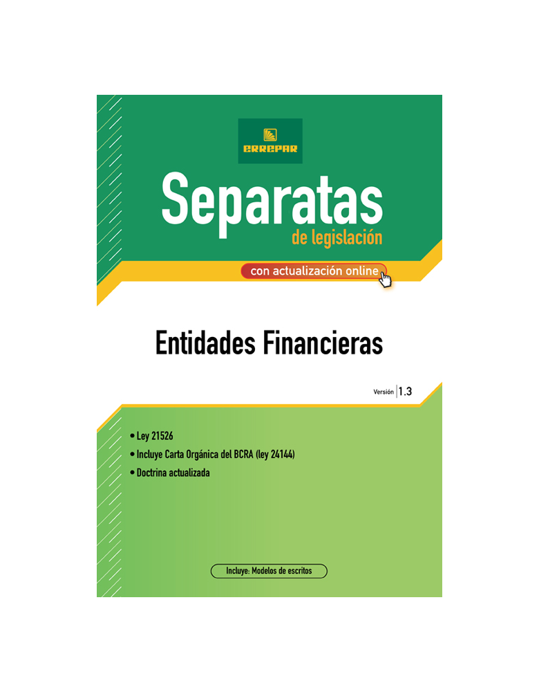 Separata de Entidades Financieras