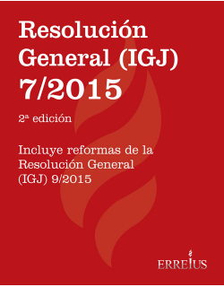 Resolución General (IGJ) 7/2015