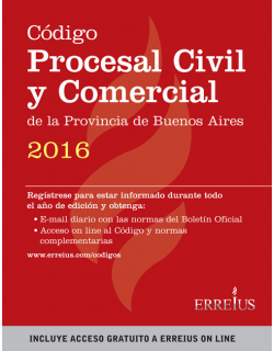 Código Procesal Civil y Comercial de la Provincia de Bs As 2016