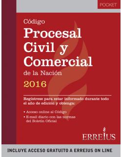 Código procesal civil y comercial de la Nación 2016 - Pocket