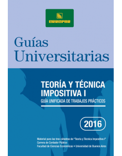 TEORIA Y TECNICA IMPOSITIVA I - 2016