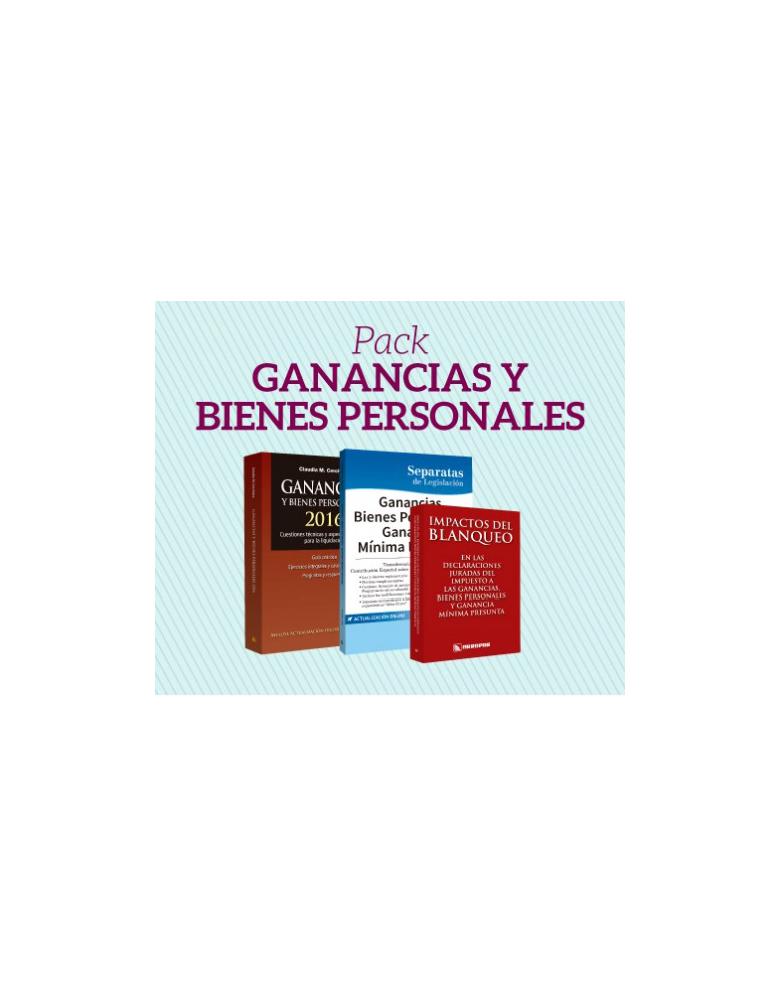 Preventa Pack 3: Ganancias y Bienes Personales 2016