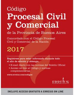 Código procesal civil y comercial de la provincia de Buenos Aires 2017 - Formato rustico