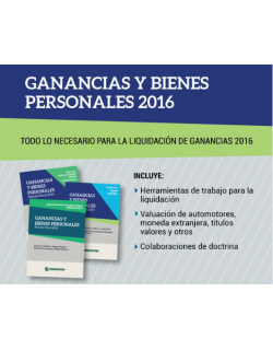 Ganancias y bienes personales - Todo lo necesario para la liquidación de ganancias 2016