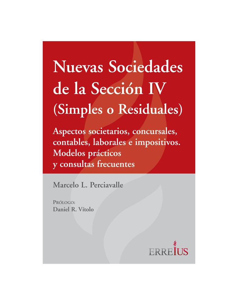 NUEVAS SOCIEDADES DE LA SECCION IV (SIMPLES O RESIDUALES)