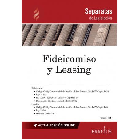Separata de Fideicomiso y leasing