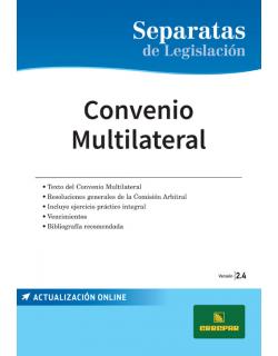Separata de Convenio multilateral con ejercicio