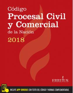 Código Procesal Civil y Comercial de la Nación 2018