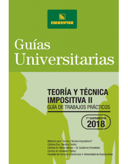 TEORIA Y TECNIA IMPOSITIVA II - 1ER CUATRIMESTRE DE 2018