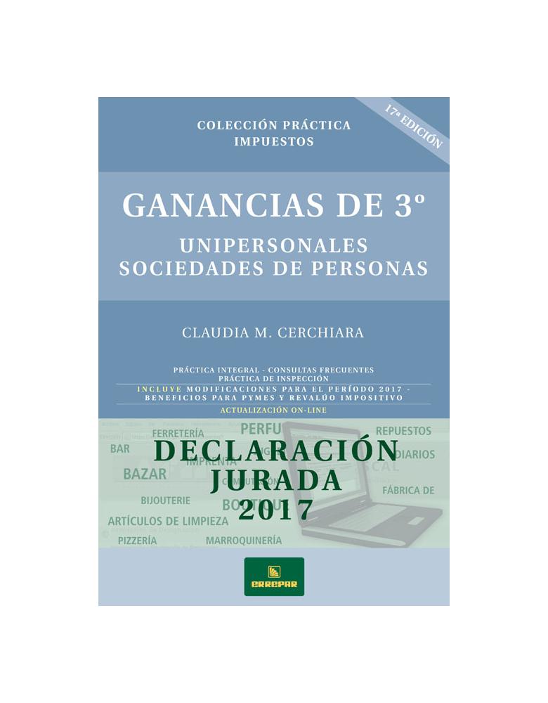 GANANCIA 3 UNIPERSONALES-SOCIEDADES DE PERSONAS