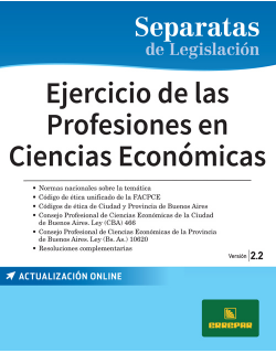 Separata de Ejercicio de las profesiones en ciencias económicas