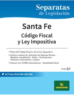 SEPARATA DE SANTA FE, CÓDIGO FISCAL Y LEY IMPOSITIVA 2.1