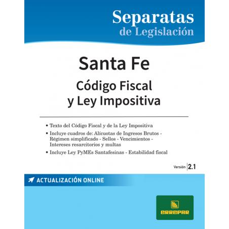 Separata de la Provincia de Santa Fe - Código fiscal y ley impositiva