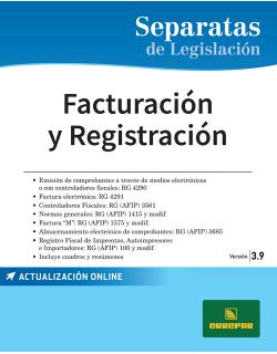 SEPARATA DE  FACTURACIÓN Y REGISTRACIÓN 3.9