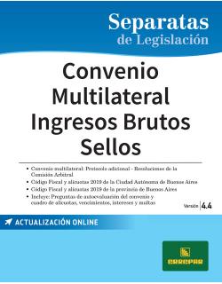 Separata de Convenio multilateral - Ingresos brutos - Sellos