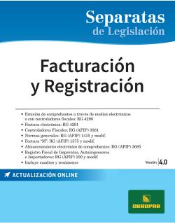 Separata de Facturación y registración